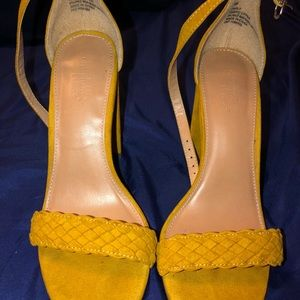 Shoes - Yellow heels.